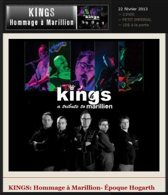 kings hommage à marillion