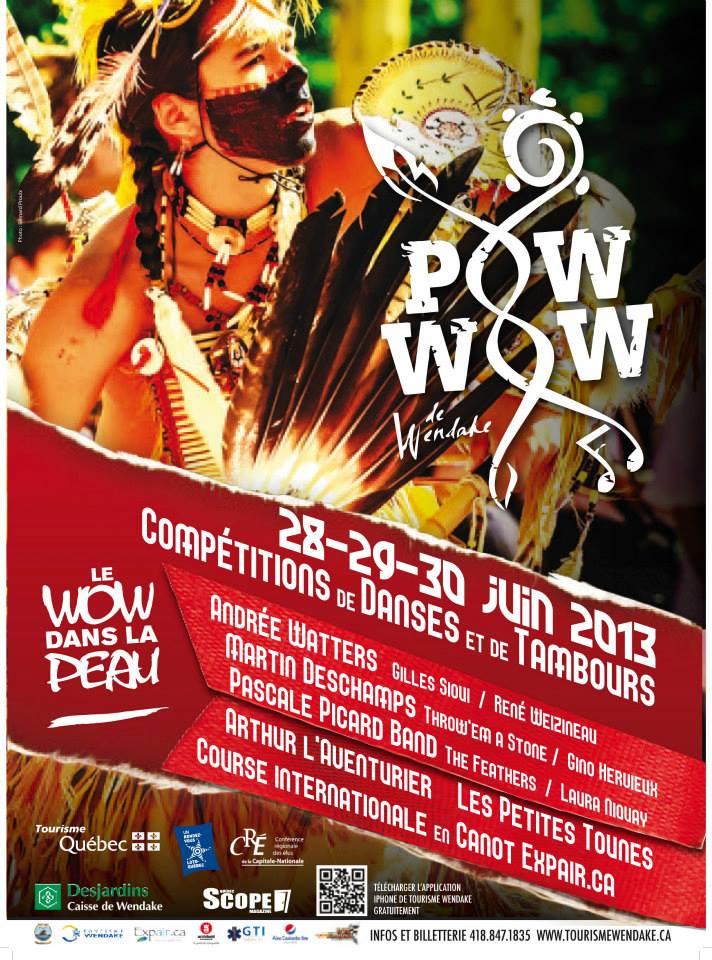 Programmation du Pow-Wow de Wendake du 28 au 30 juin 2013