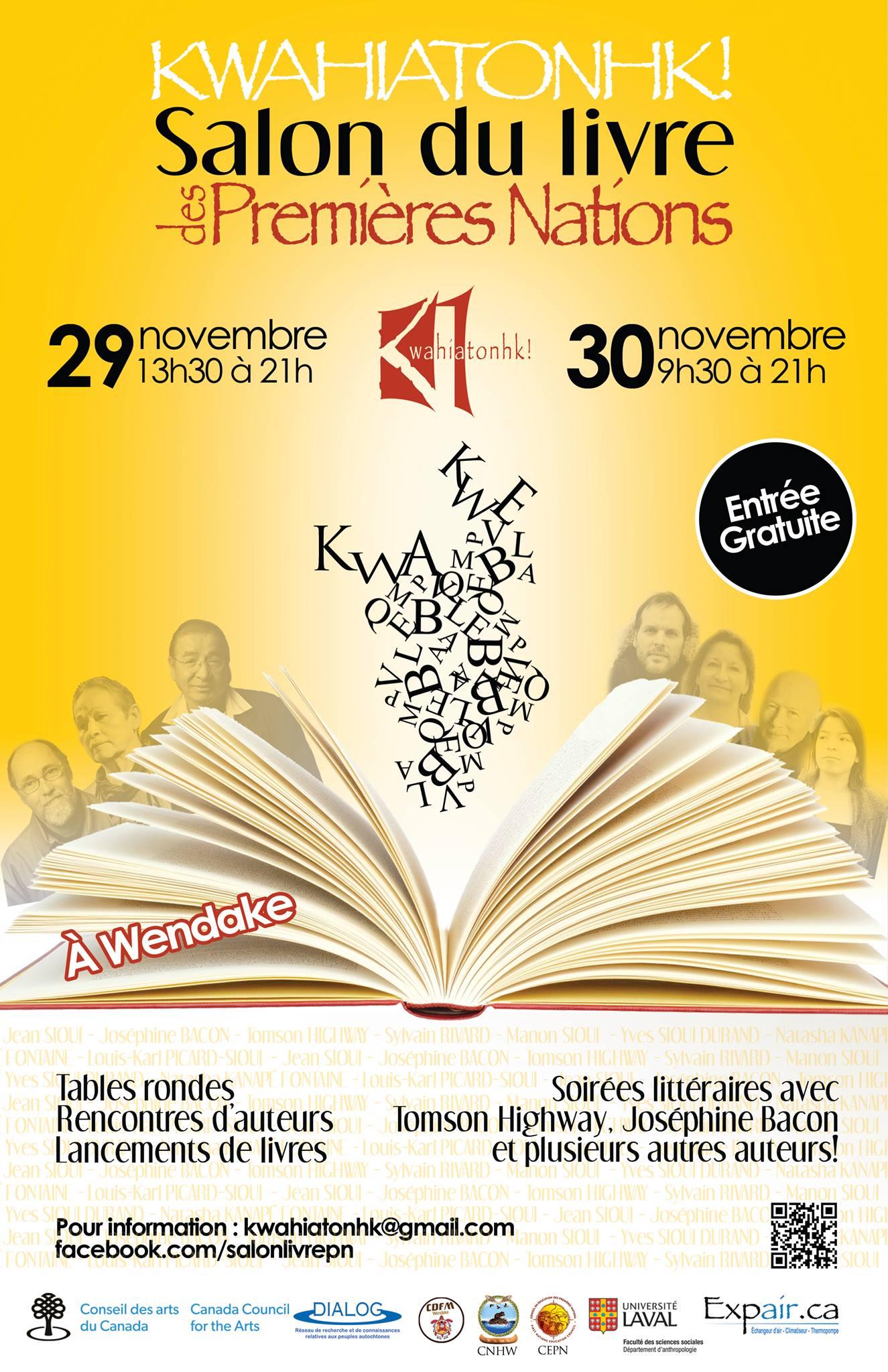Salon du livre des premi res nations 2013 les 29 et 30 nov - Salon du livre troyes ...