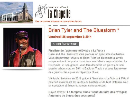 brian tyler chapelle 26 sept