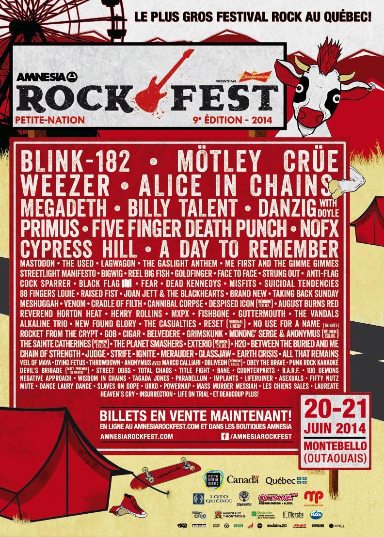 Blink 182, Megadeth, Mastodon...