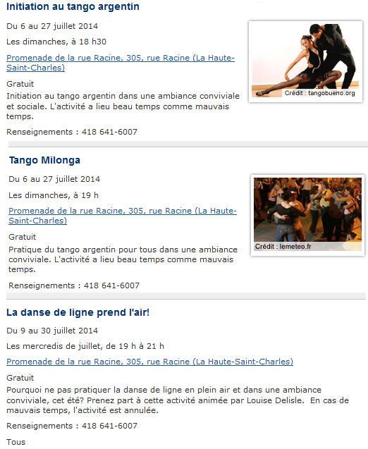 tango loretteville