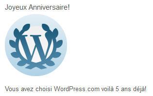 wordpress 5 ans