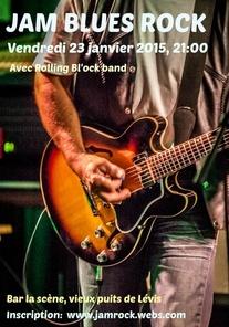 Annonce jam blues rock 23 janv 2015