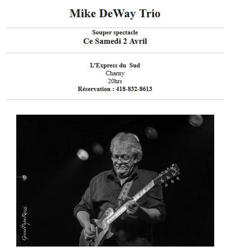 mike deway trio