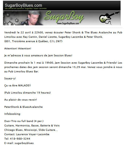 sugarboy 22 avril