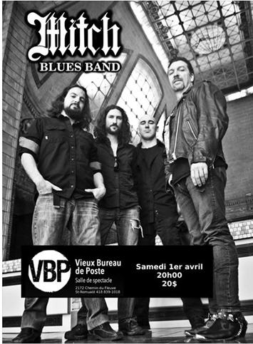 mitch blues band au vieux bureau de poste le 1er avril 2017